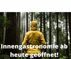 Read more about the article Da haben wir Glück gehabt! Ab heute wieder warme Innenplätze:-)